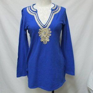 Lilly Pulitzer ribbon applique tunic top Small